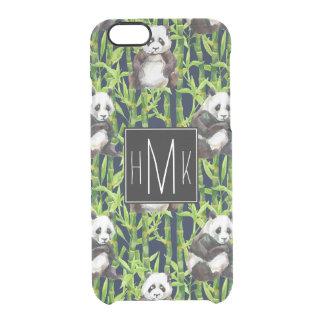 Panda avec le monogramme en bambou du motif | coque iPhone 6/6S