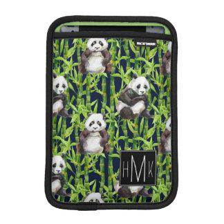 Panda avec le monogramme en bambou du motif | housse iPad mini