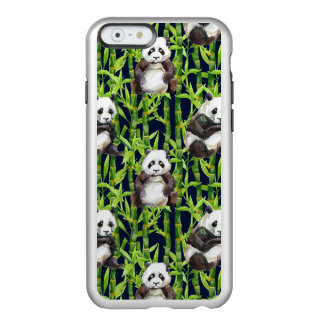 Panda avec le motif en bambou d'aquarelle coque iPhone 6 incipio feather® shine