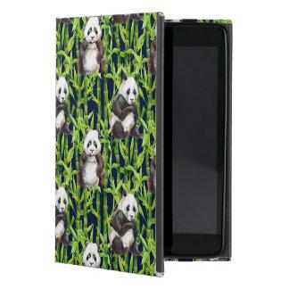 Panda avec le motif en bambou d'aquarelle coques iPad mini