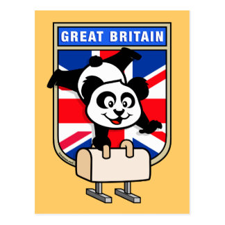 Panda BRITANNIQUE de cheval de pommeau Carte Postale
