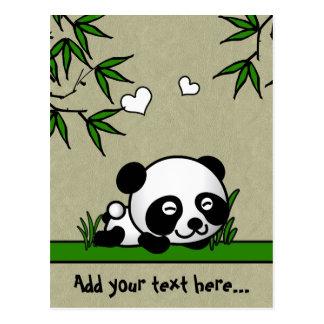 Panda confiant cartes postales
