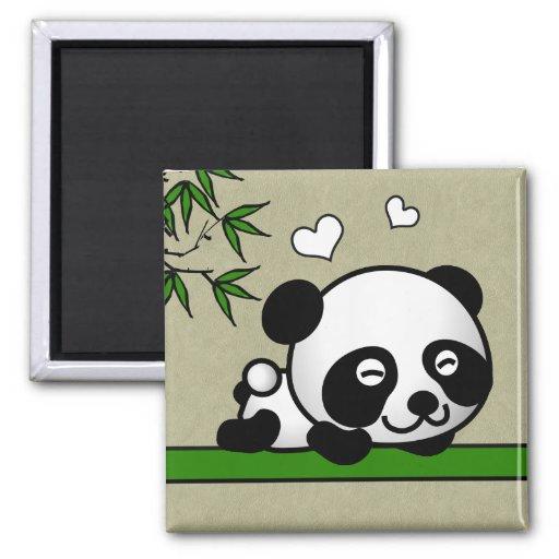 Panda confiant magnets pour réfrigérateur