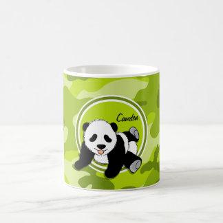 Panda de bébé ; camo vert clair, camouflage mug