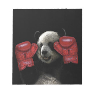 Panda de boxe bloc-note