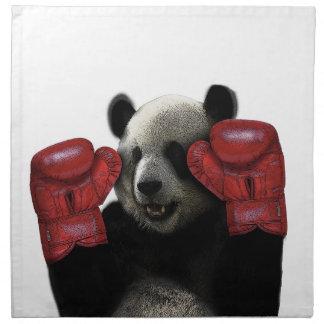 Panda de boxe serviettes de table