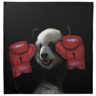 Panda de boxe serviettes en tissus
