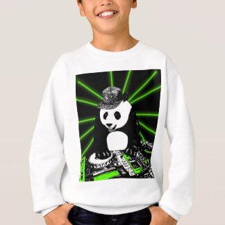 Panda de disc-jockey sweatshirt