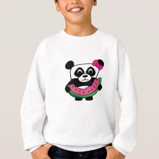 Panda de fille avec la tranche de pastèque sweatshirt