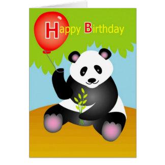 Panda de joyeux anniversaire carte de vœux