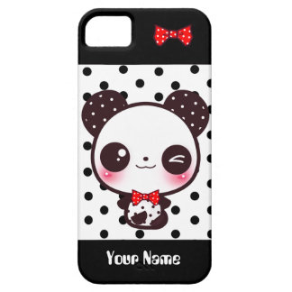 Panda de Kawaii - personnalisé Coque iPhone 5