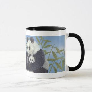 Panda de maman et de bébé mug