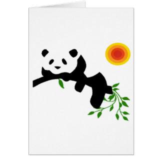 Panda de repos carte de vœux