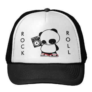 Panda de rock casquettes de camionneur