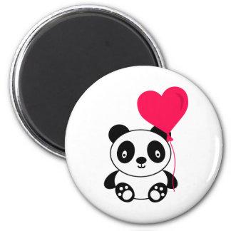 Panda de Valentine Magnet Rond 8 Cm