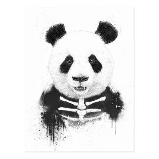 Panda de zombi carte postale