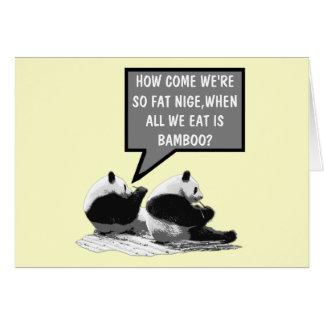 Panda drôle carte de vœux