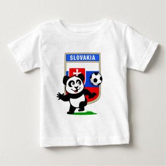 Panda du football de la Slovaquie T-shirt Pour Bébé