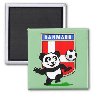 Panda du football du Danemark Magnet Carré
