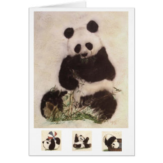 panda espiègle carte de vœux