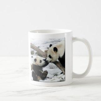 panda et maman de bébé mug