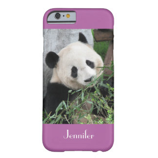 panda géant de cas de l'iPhone 6, pourpre, Coque iPhone 6 Barely There