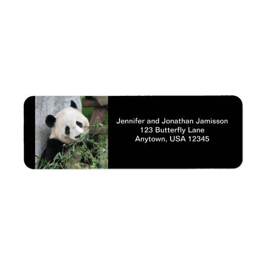 Panda géant, étiquettes de adresse de retour de