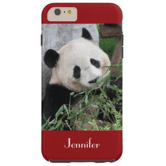 Panda géant mignon, rouge foncé, coutume avec le coque iPhone 6 plus tough