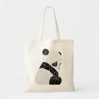 Panda géométrique sac fourre-tout