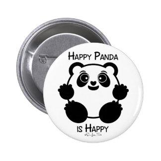 Panda heureux badges