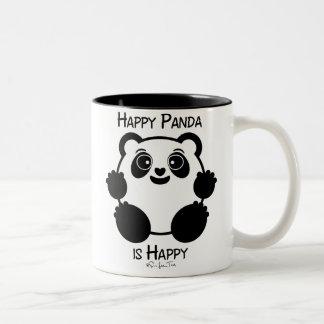 Panda heureux mug bicolore