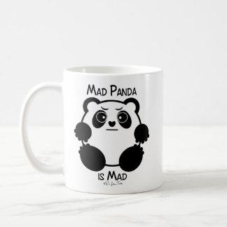 Panda heureux/panda fou mug blanc
