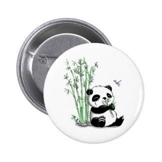 Panda mangeant le bambou pin's avec agrafe