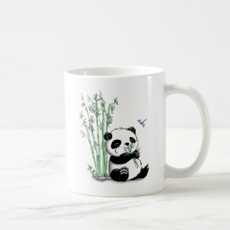 Panda mangeant le bambou mug