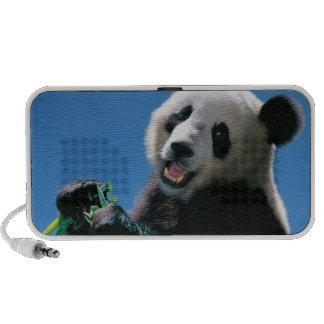 Panda mangeant le bambou, Wolong, Sichuan, Chine Haut-parleur Portable