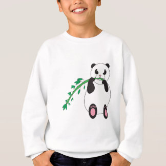 Panda mangeant le sweatshirt en bambou
