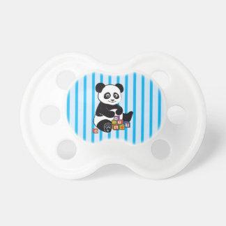 Panda mignon avec des blocs de jouet tétine pour bébé