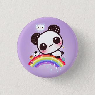 Panda mignon avec la nourriture de kawaii sur badges