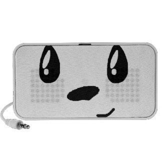 Panda mignon avec le bowtie haut-parleur iPhone
