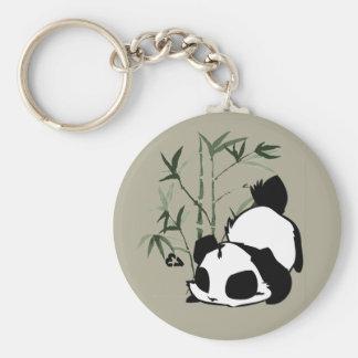 Panda mignon avec le porte - clé en bambou porte-clés