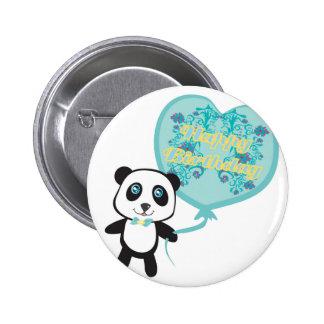 Panda mignon avec l'insigne de ballon badges
