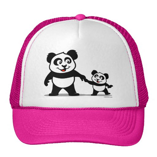 panda mignon avec un b b casquette zazzle. Black Bedroom Furniture Sets. Home Design Ideas