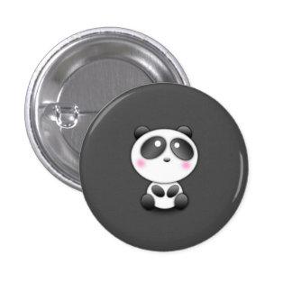 Panda mignon badge rond 2,50 cm