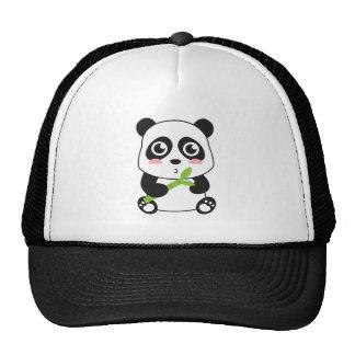 Panda mignon et câlin de bébé casquette trucker
