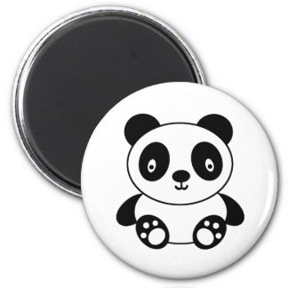 Panda mignon magnet rond 8 cm