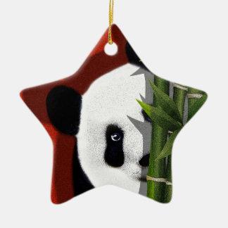 Panda Ornement Étoile En Céramique