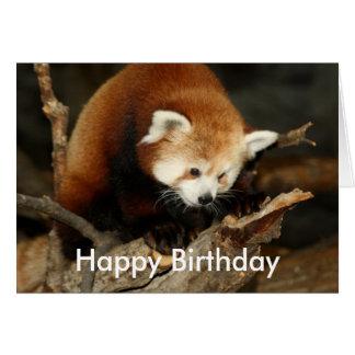 Panda rouge carte de vœux