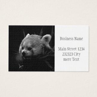 Panda rouge de B&W Cartes De Visite