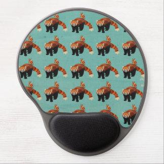 Panda rouge et hibou Mousepad Tapis De Souris Avec Gel