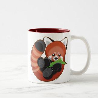 Panda rouge mug bicolore